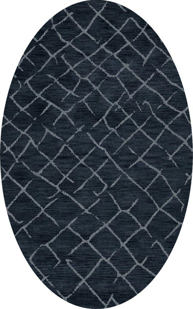 Bella Blue Area Rug Rug Size: Oval 10' x 14'