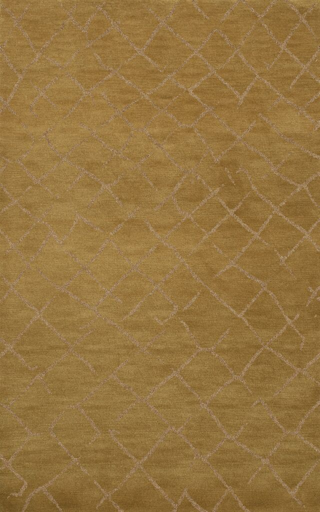 Bella Machine Woven Wool Gold Area Rug Rug Size: Octagon 6'