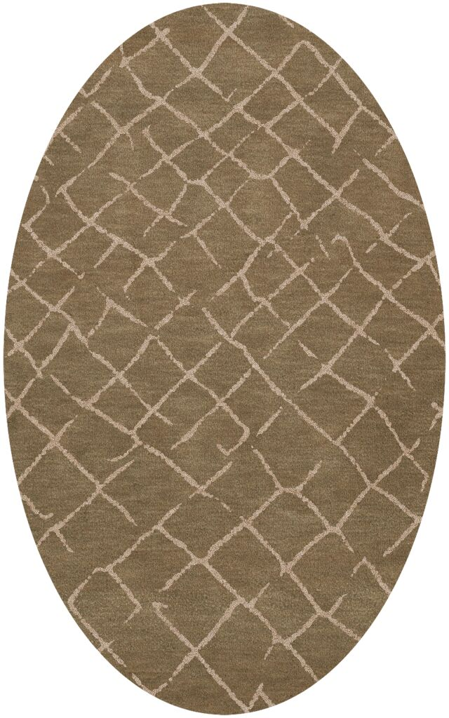 Bella Machine Woven Wool Brown Area Rug Rug Size: Oval 8' x 10'