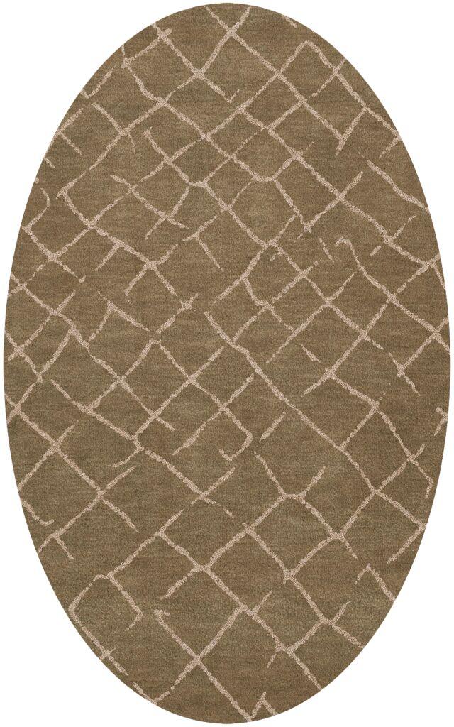 Bella Machine Woven Wool Brown Area Rug Rug Size: Oval 4' x 6'