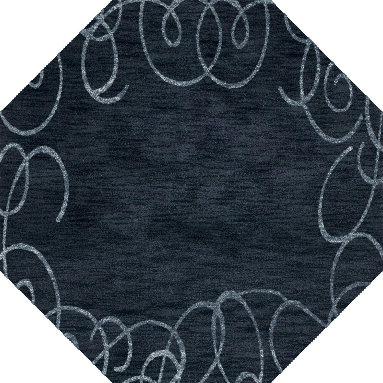 Bella Blue Area Rug Rug Size: Octagon 4'