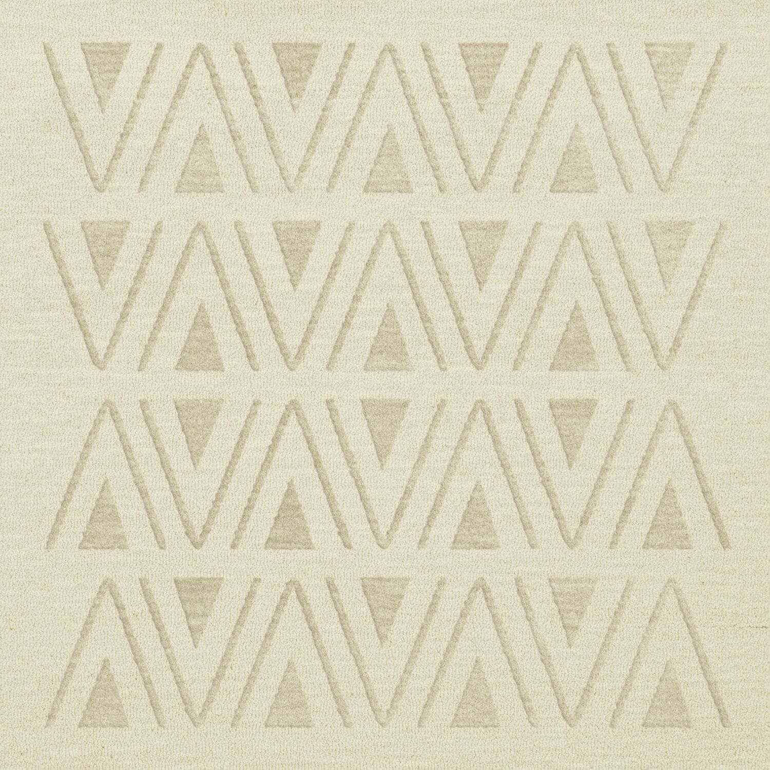Bella Machine Woven Wool White Area Rug Rug Size: Square 6'