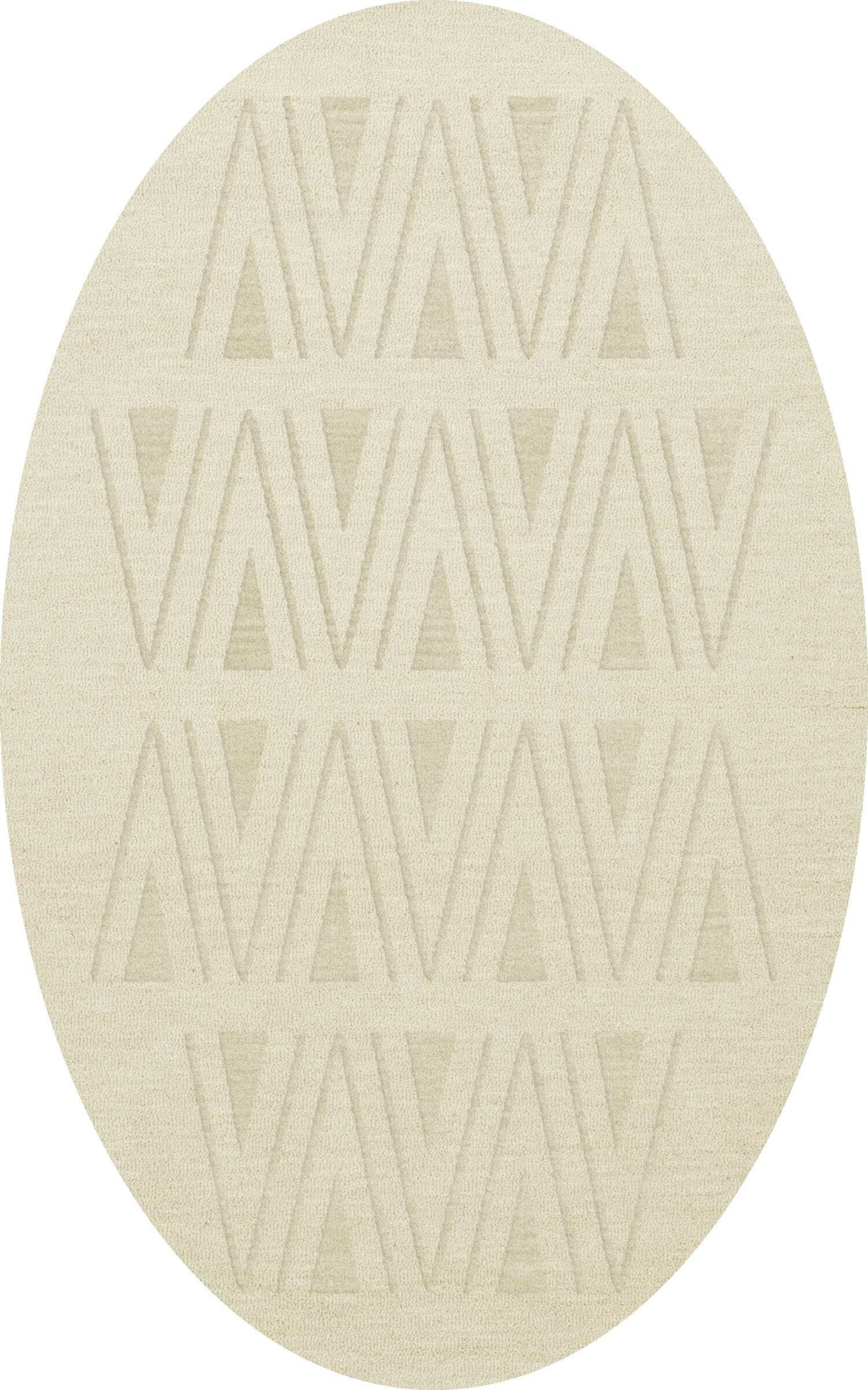 Bella Machine Woven Wool White Area Rug Rug Size: Oval 8' x 10'