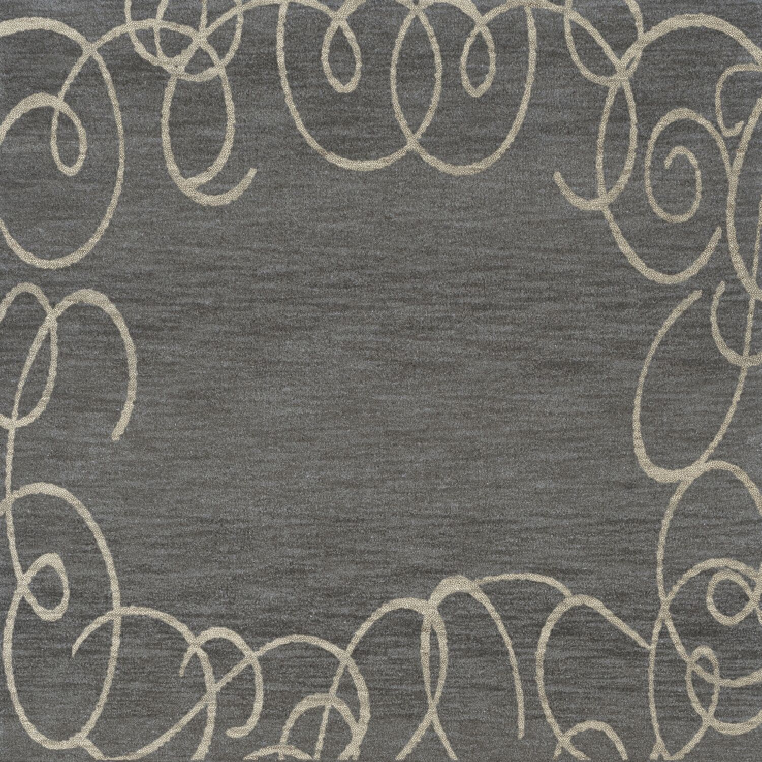 Bella Gray Area Rug Rug Size: Square 4'