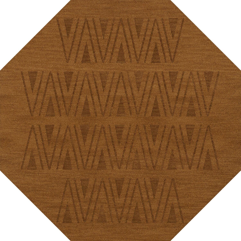 Bella Machine Woven Wool Brown Area Rug Rug Size: Octagon 12'