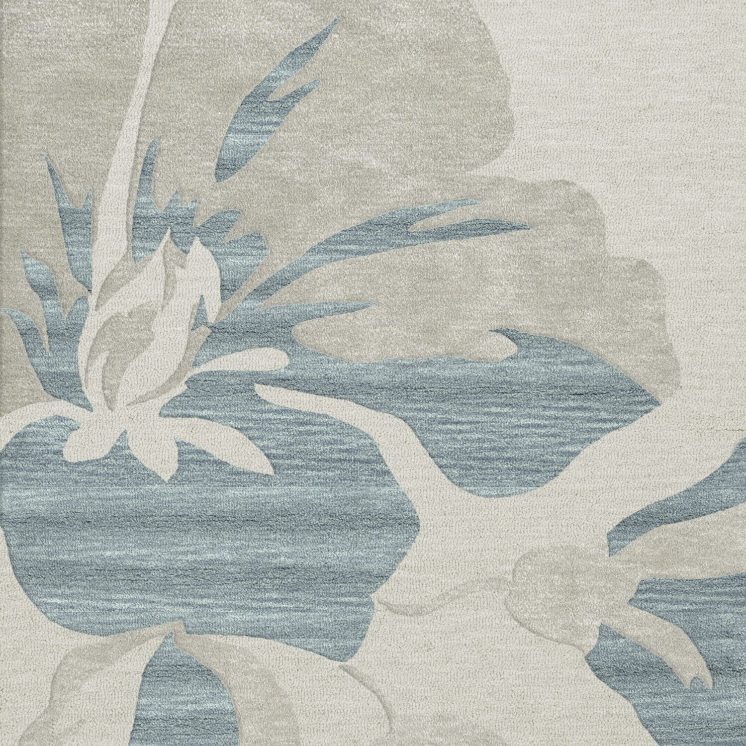 Bella Machine Woven Wool Blue Area Rug Rug Size: Square 8'