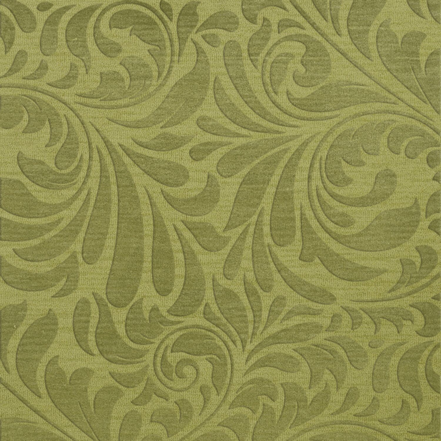 Bella Machine Woven Wool Green Pad Area Rug Rug Size: Square 6'