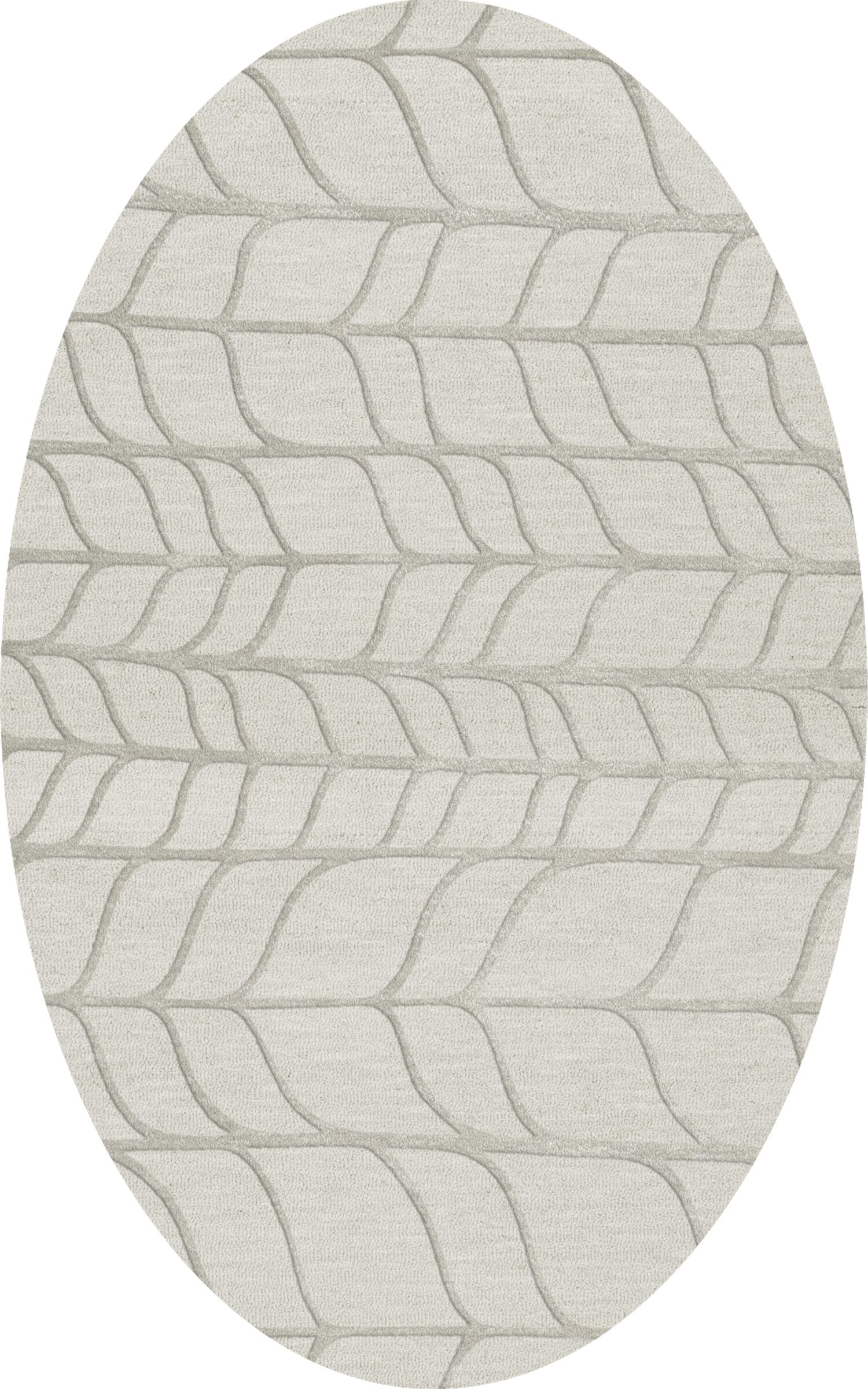 Bella Gray Area Rug Rug Size: Oval 4' x 6'