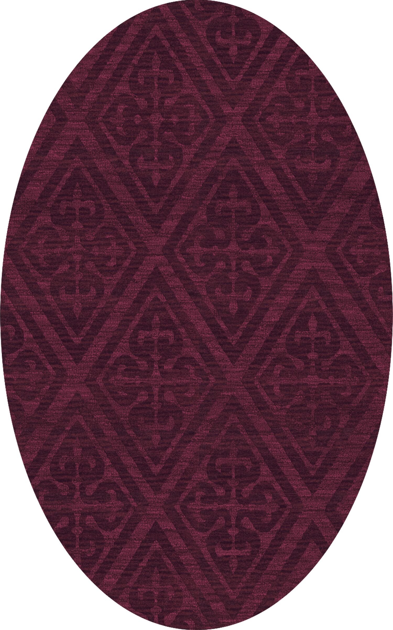 Bella Machine Woven Wool Red Area Rug Rug Size: Oval 4' x 6'