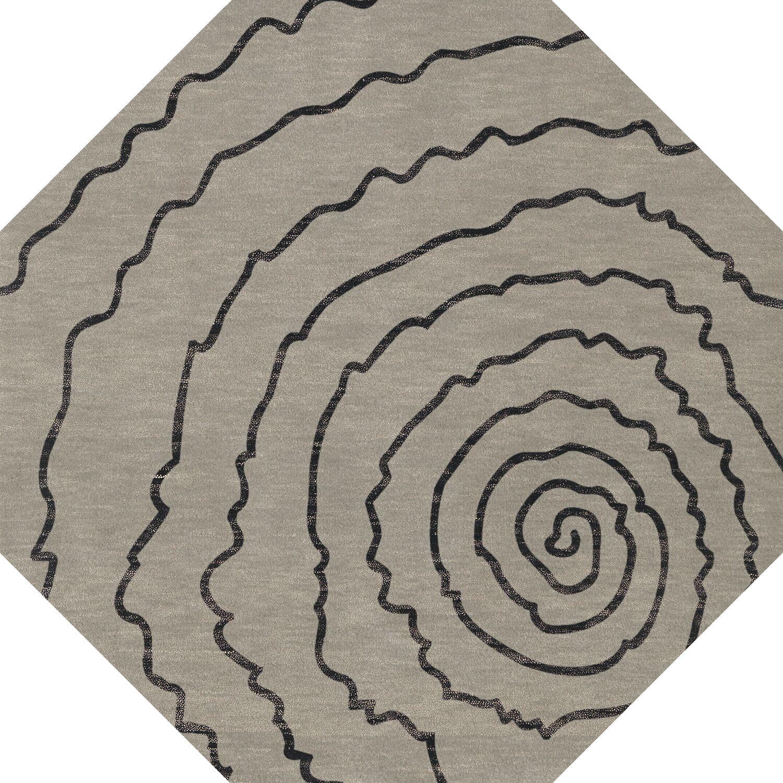Bella Gray Area Rug Rug Size: Octagon 8'