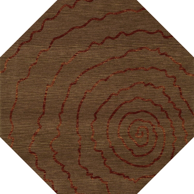 Bella Brown Area Rug Rug Size: Octagon 6'