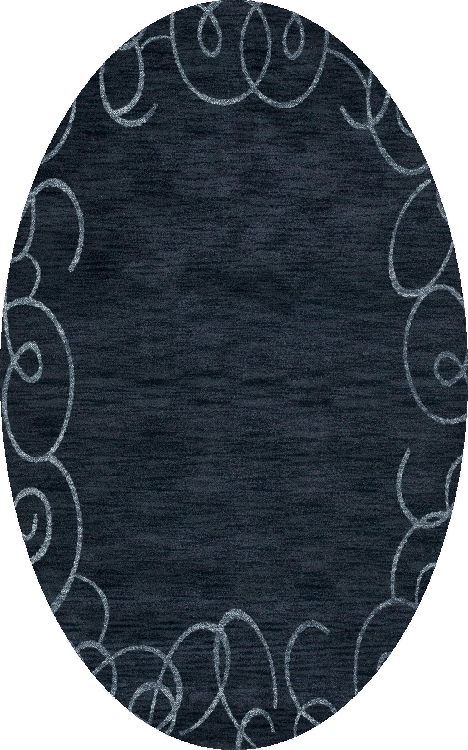 Bella Blue Area Rug Rug Size: Oval 4' x 6'