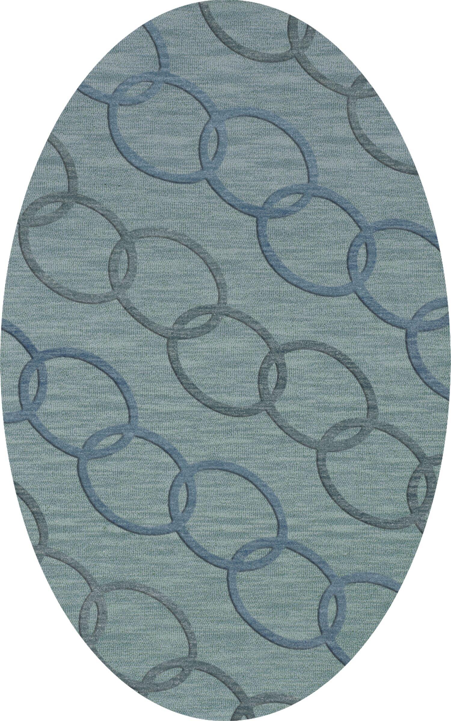 Bella Blue Blue Area Rug Rug Size: Oval 12' x 15'