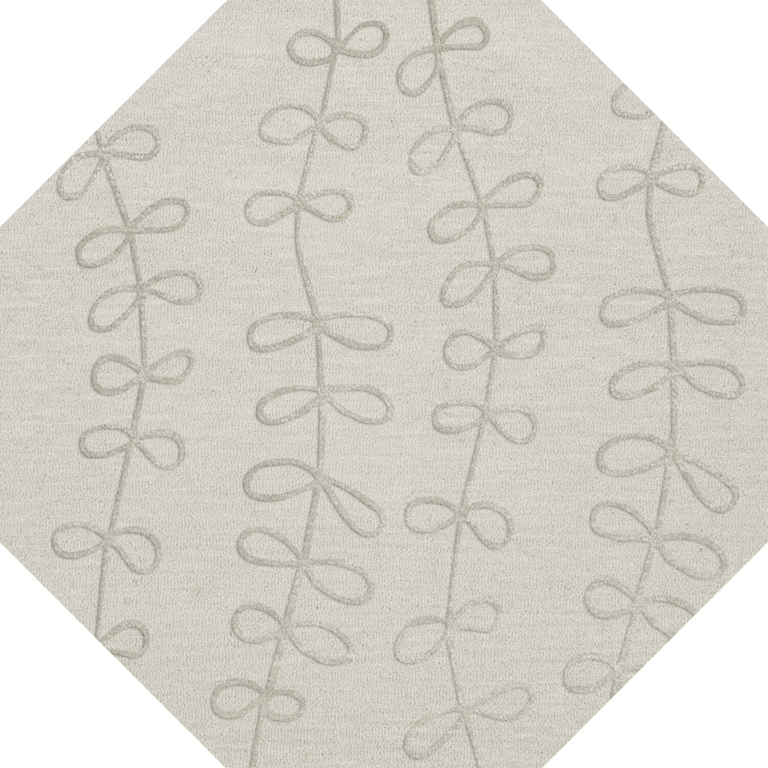 Bella Gray Area Rug Rug Size: Octagon 12'