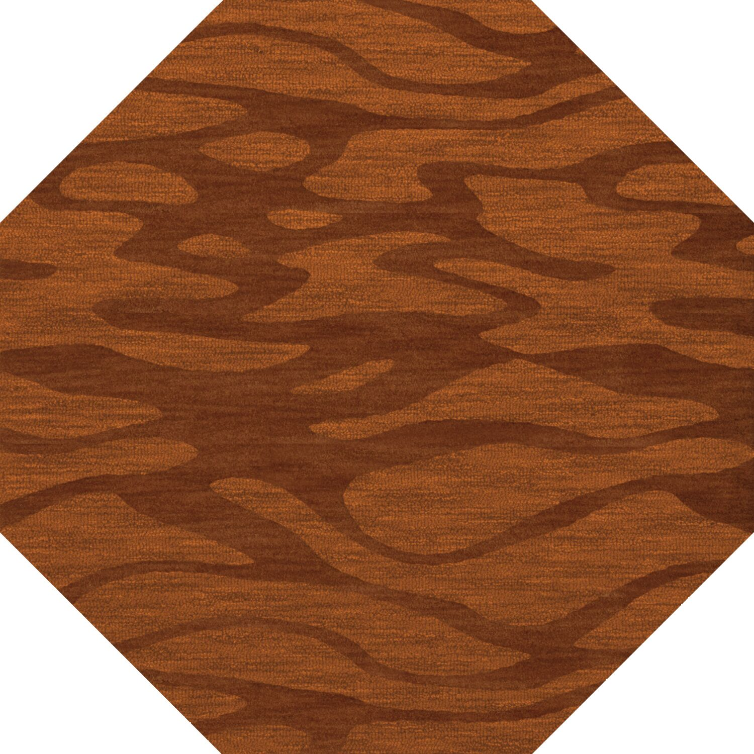 Bella Rust/Orange Area Rug Rug Size: Octagon 6'