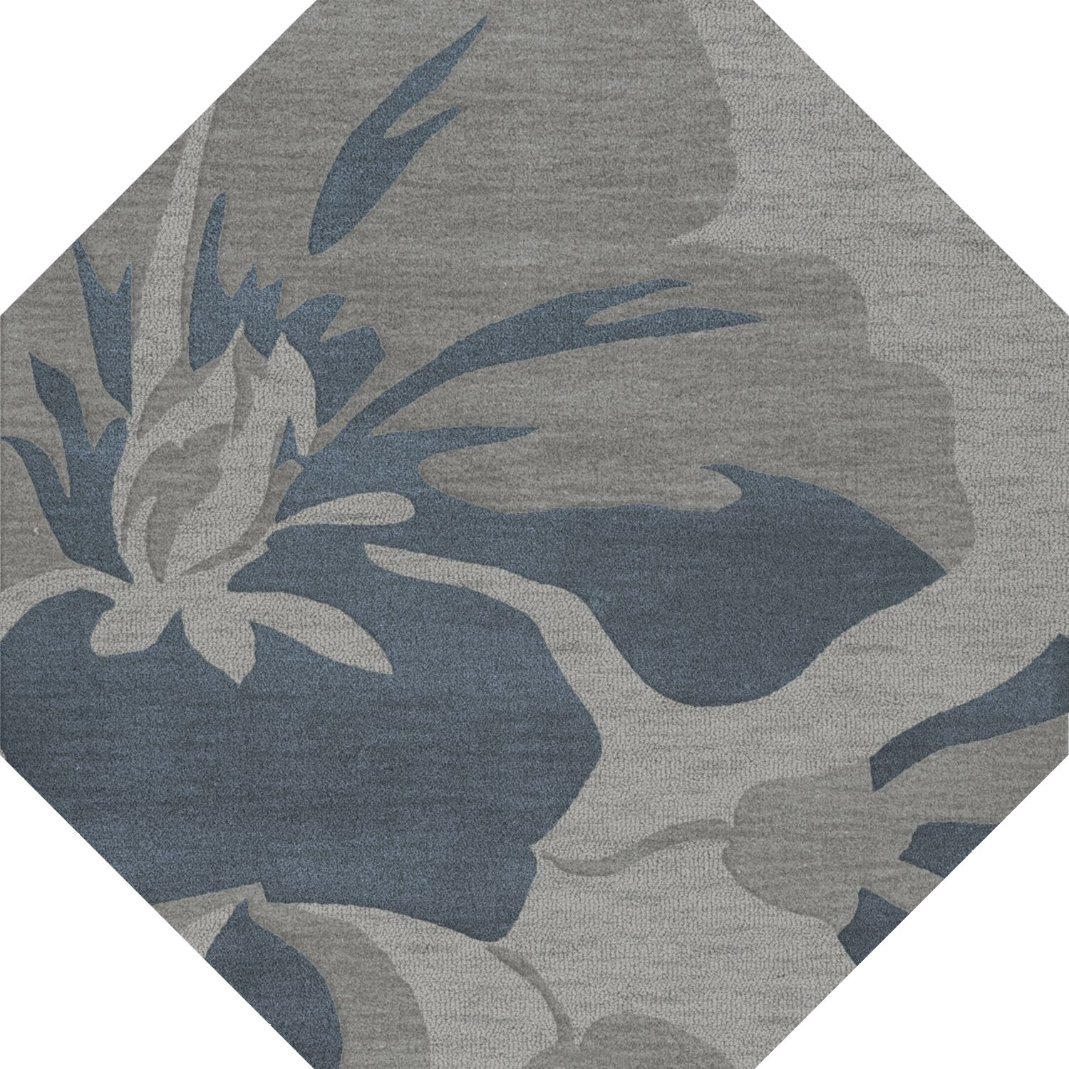 Bella Gray Area Rug Rug Size: Octagon 4'
