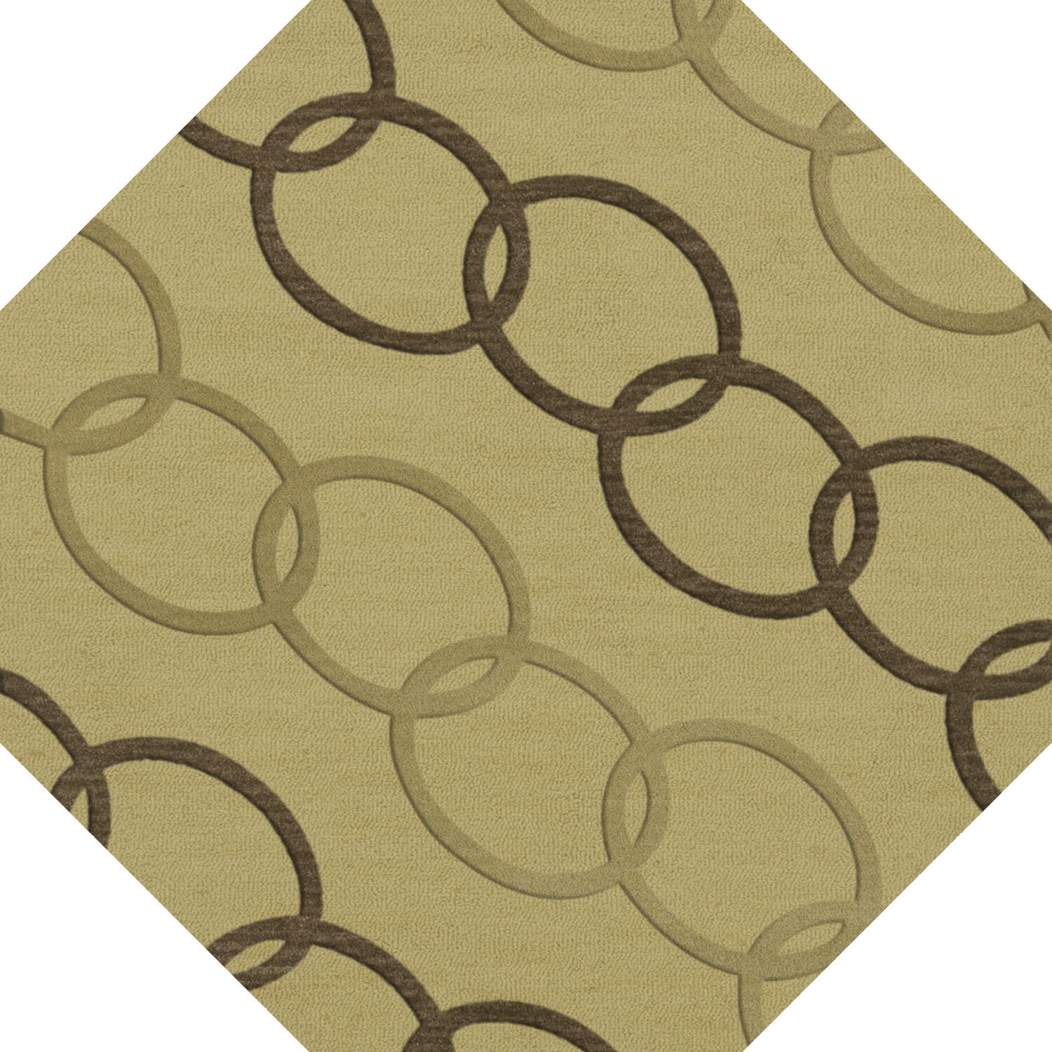 Bella Machine Woven Wool Beige Area Rug Rug Size: Octagon 4'