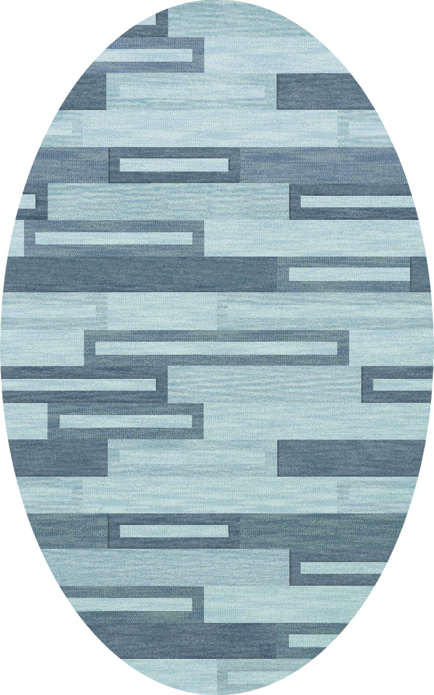 Bella Machine Woven Wool Blue Area Rug Rug Size: Oval 5' x 8'