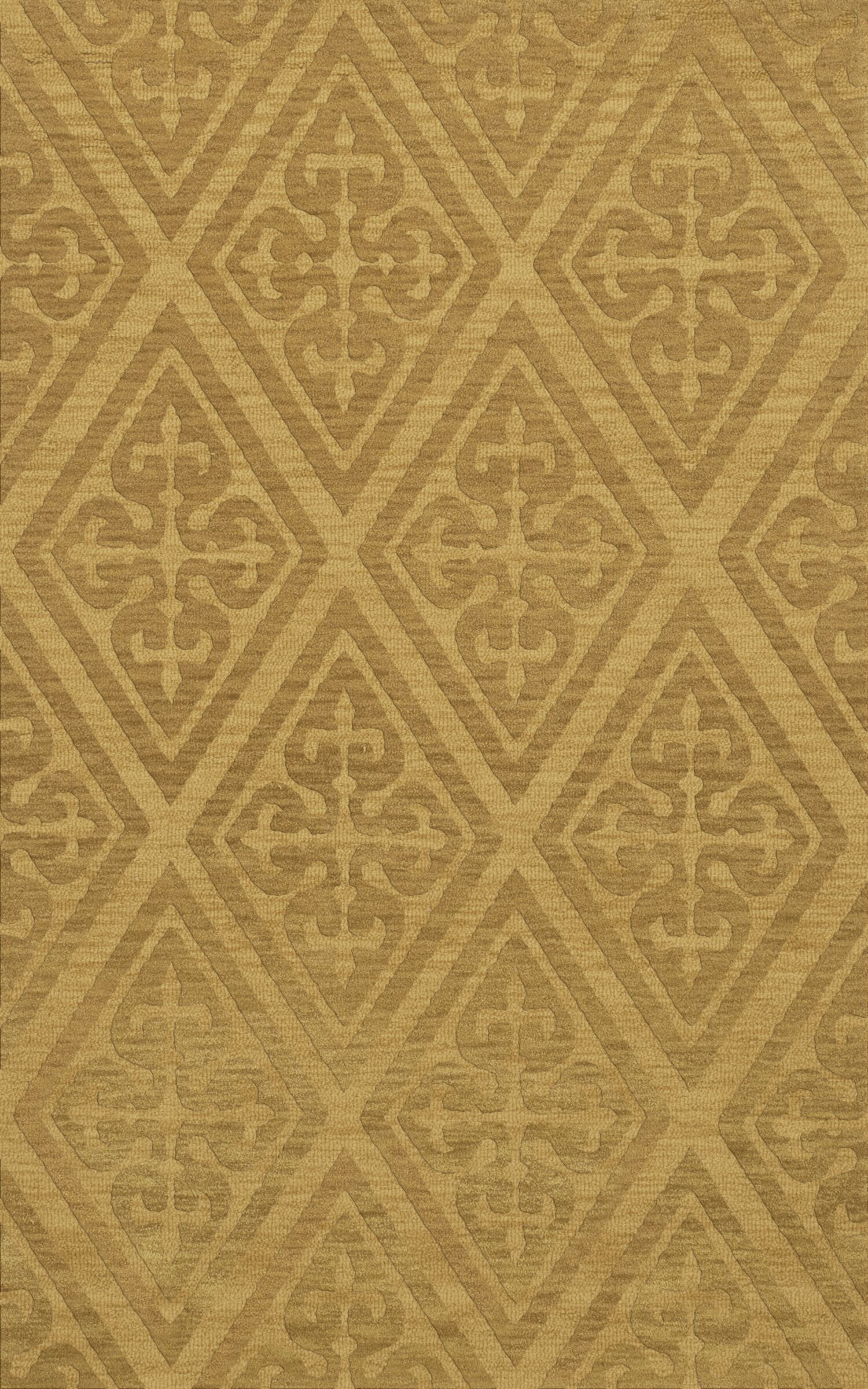 Bella Machine Woven Wool Beige Area Rug Rug Size: Rectangle 3' x 5'