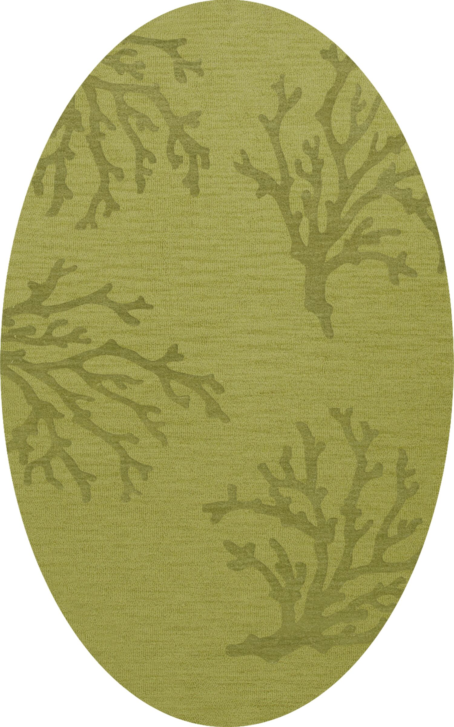 Bella Green Area Rug Rug Size: Oval 8' x 10'