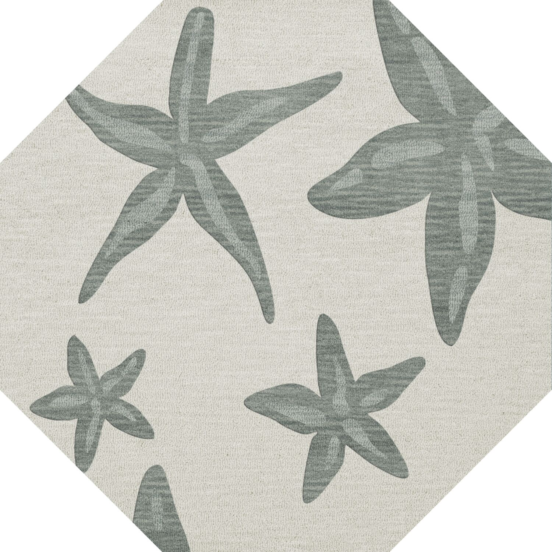 Bella Machine Woven Wool Gray Area Rug Rug Size: Octagon 6'