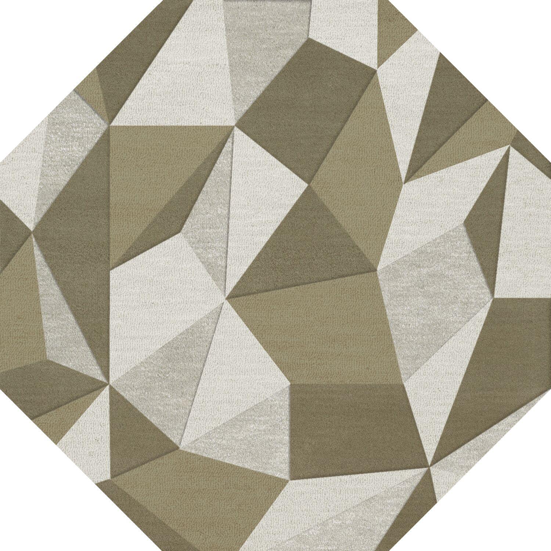 Bella Machine Woven Wool Beige/Gray Area Rug Rug Size: Octagon 8'