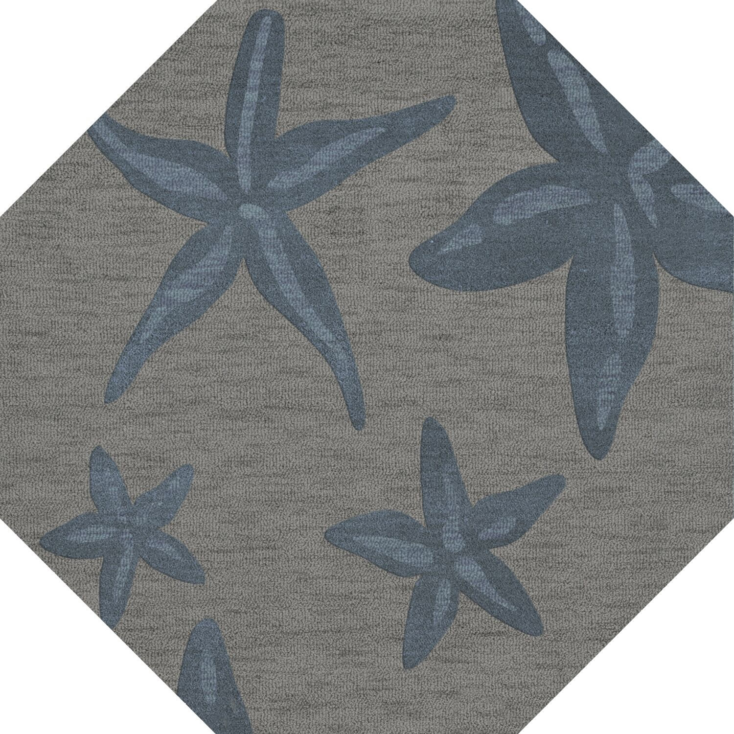 Bella Gray/Blue Area Rug Rug Size: Octagon 4'