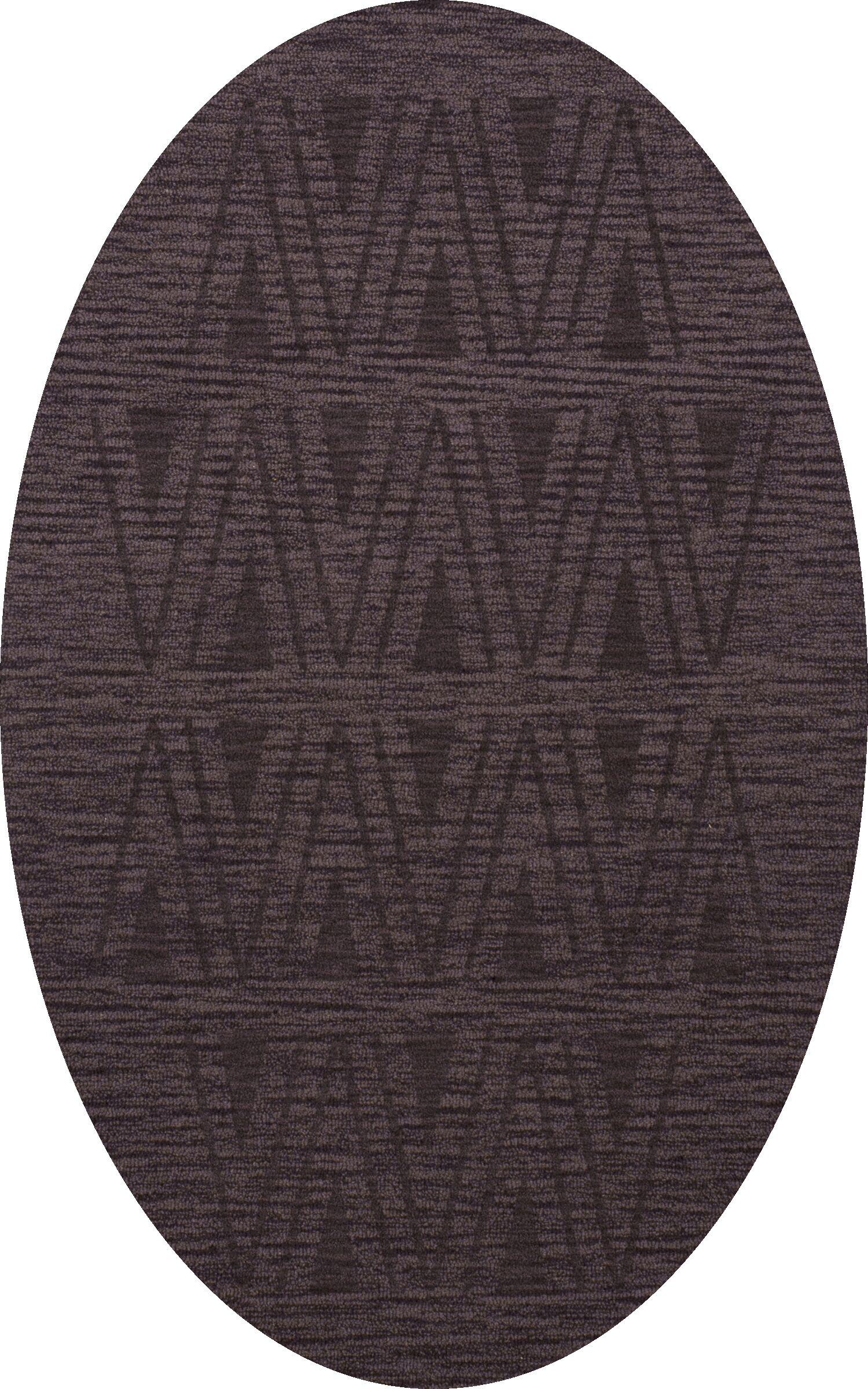 Bella Machine Woven Wool Purple Area Rug Rug Size: Oval 9' x 12'