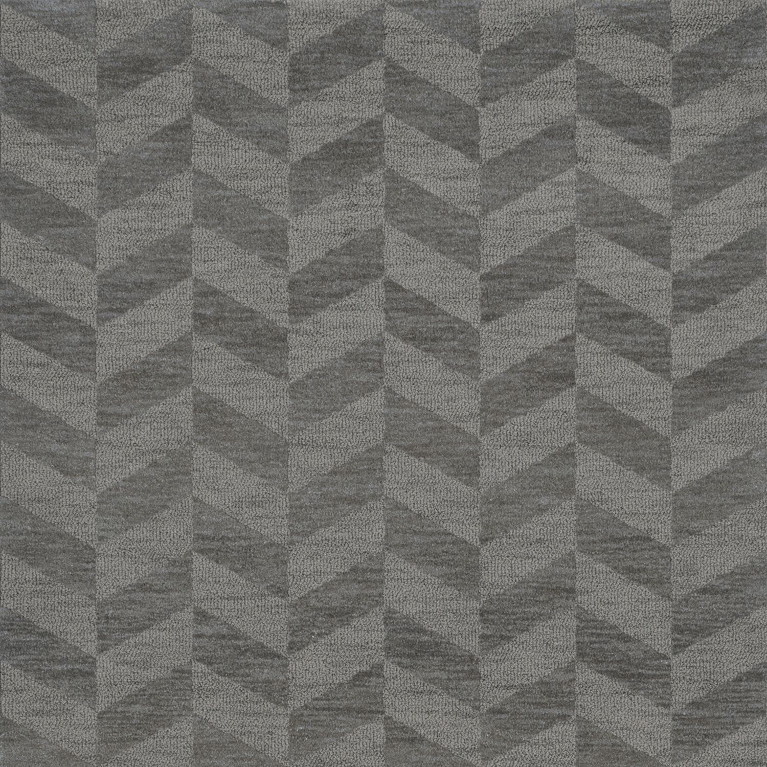 Bella Machine Woven Wool Gray Area Rug Rug Size: Square 10'