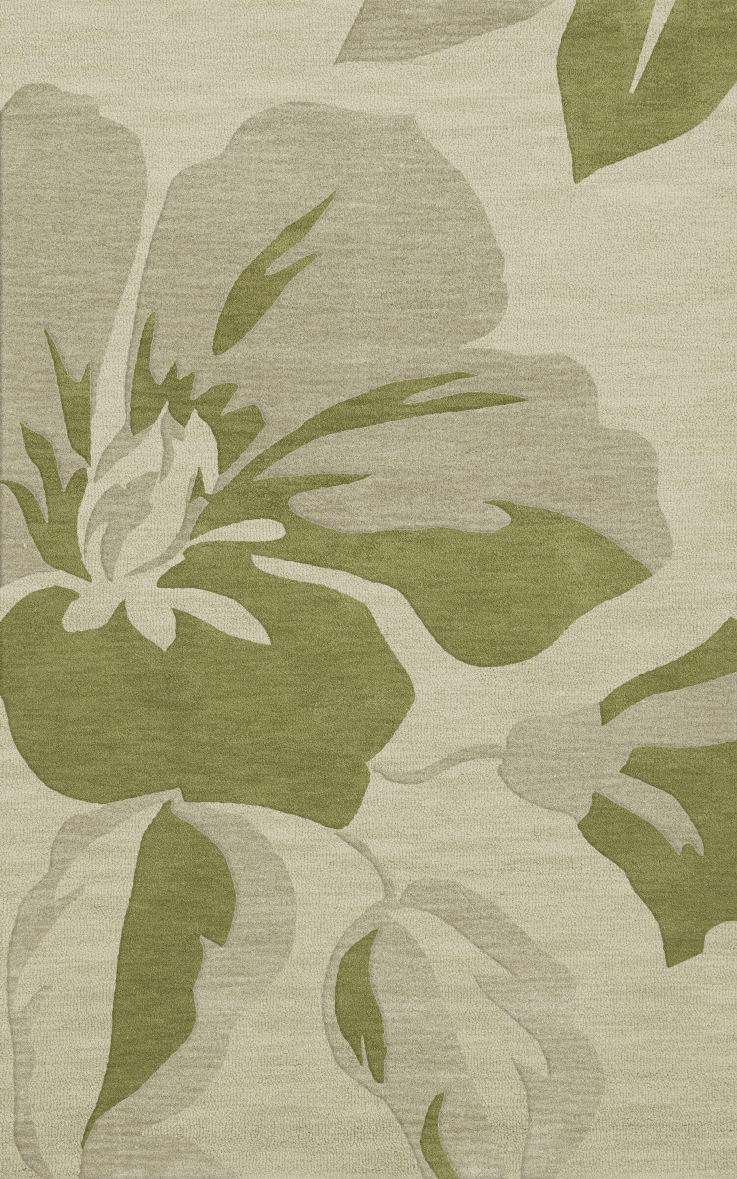 Bella Green Area Rug Rug Size: Rectangle 9' x 12'