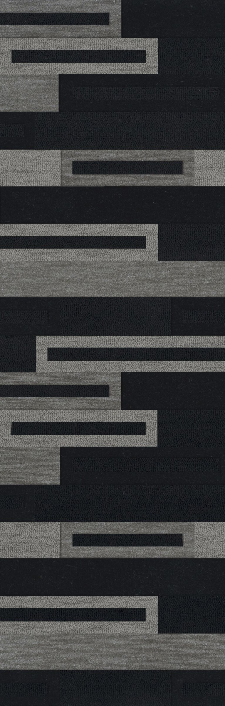 Bella Machine Woven Wool Black/Gray Area Rug Rug Size: Runner 2'6