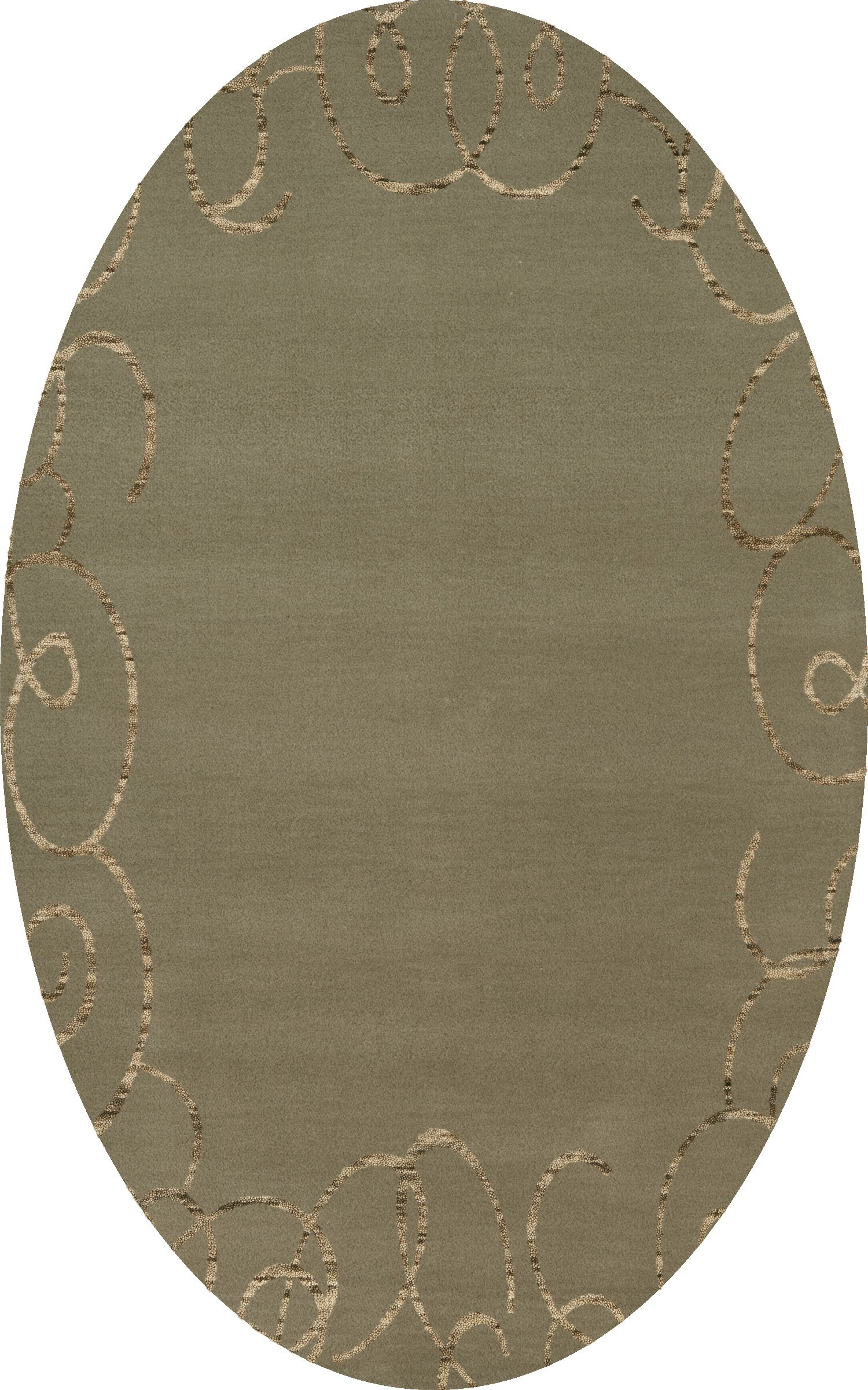Bella Machine Woven Wool Gray Area Rug Rug Size: Oval 12' x 18'