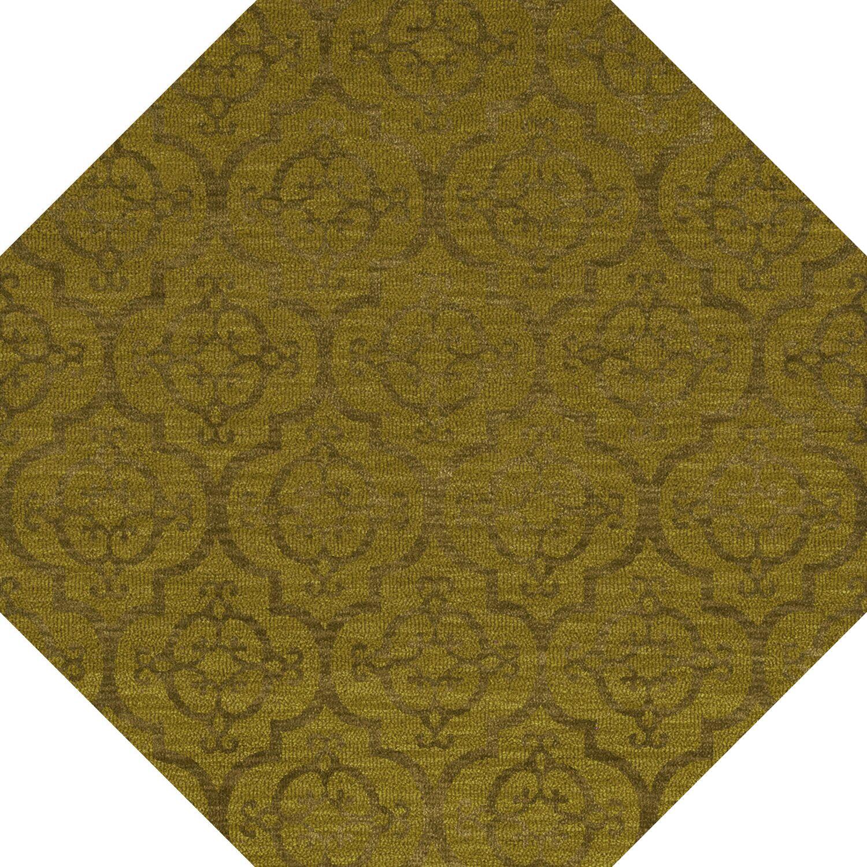 Bella Machine Woven Wool Avocado Area Rug Rug Size: Octagon 4'
