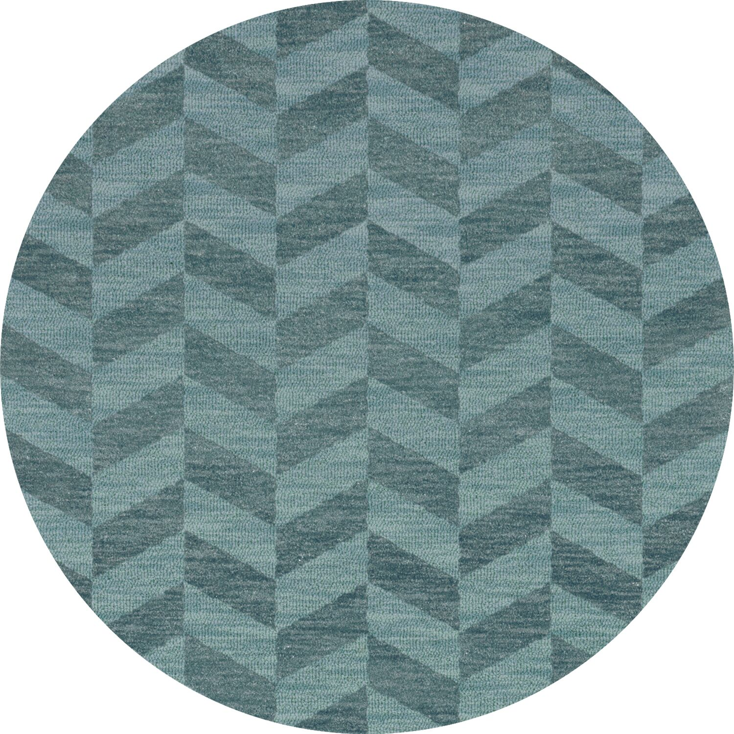 Bella Machine Woven Wool Blue Area Rug Rug Size: Round 12'