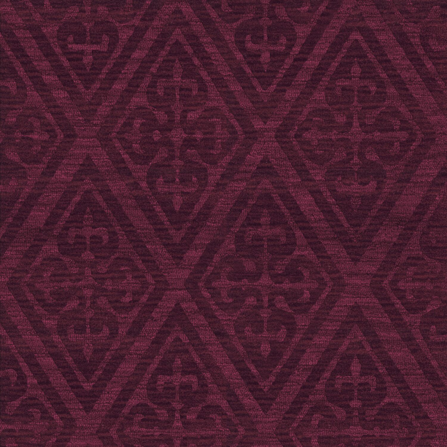 Bella Machine Woven Wool Red Area Rug Rug Size: Square 4'