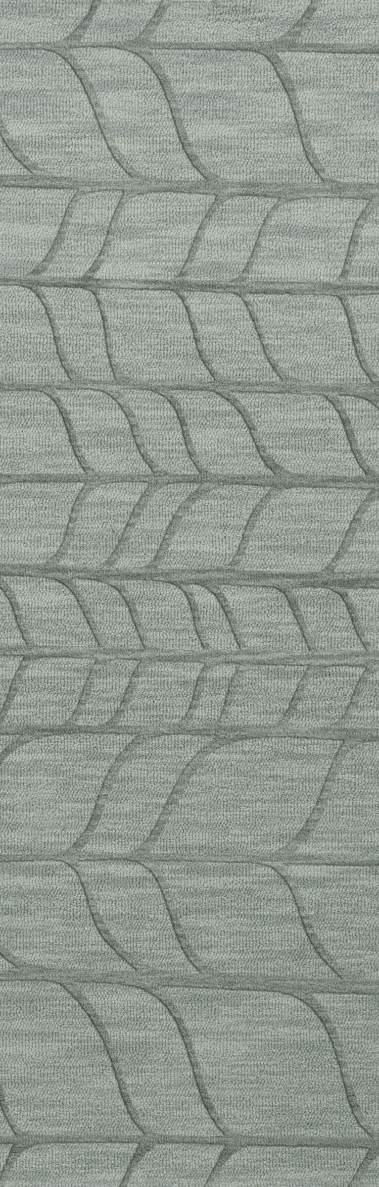 Bella Machine Woven Wool Gray Area Rug Rug Size: Runner 2'6