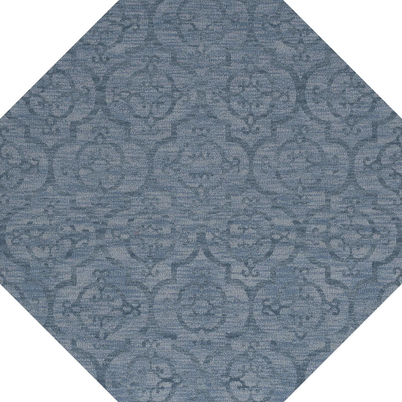 Bella Machine Woven Wool Blue Area Rug Rug Size: Octagon 10'