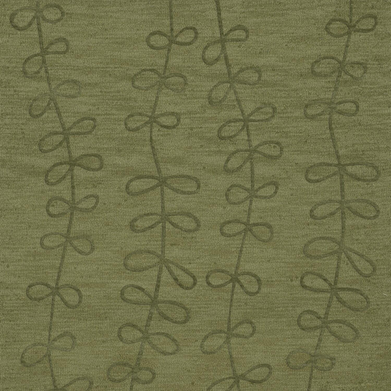Bella Machine Woven Wool Green Area Rug Rug Size: Square 10'