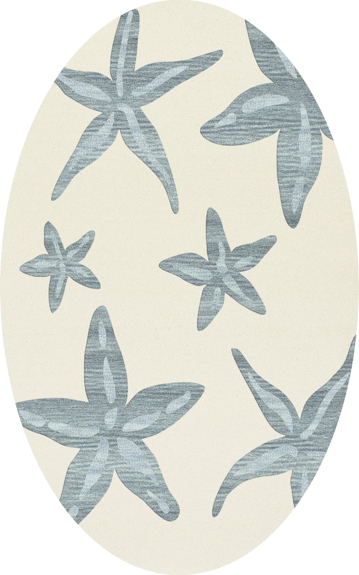 Bella Machine Woven Wool Beige/Blue Area Rug Rug Size: Oval 8' x 10'