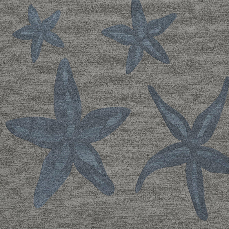 Bella Gray/Blue Area Rug Rug Size: Square 10'