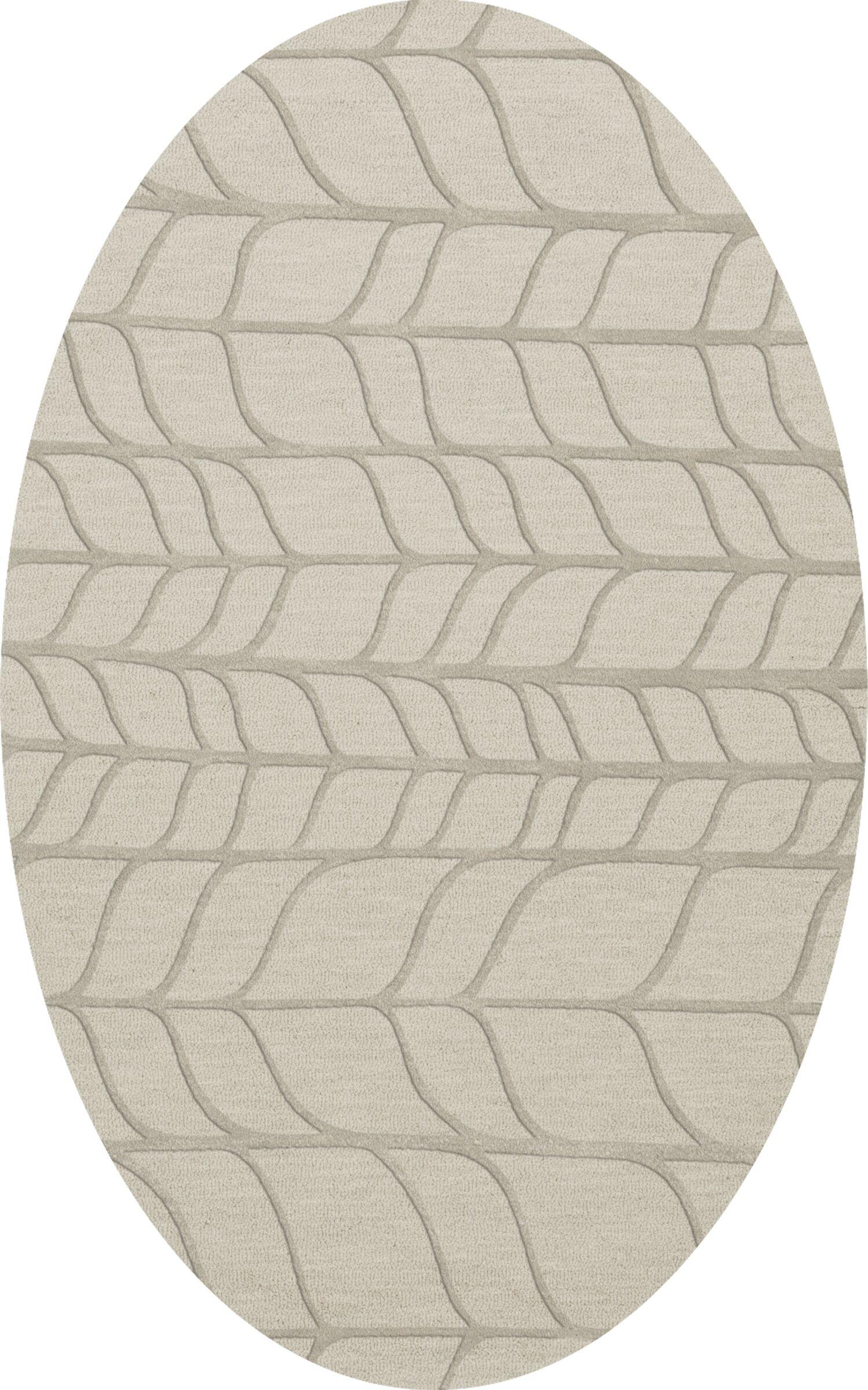 Bella Machine Woven Wool Gray Area Rug Rug Size: Oval 12' x 15'