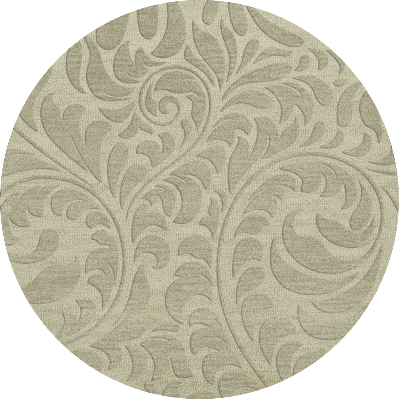 Bella Machine Woven Wool Gray Area Rug Rug Size: Round 8'