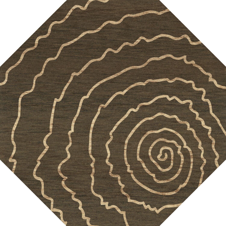 Bella Brown Area Rug Rug Size: Octagon 12'