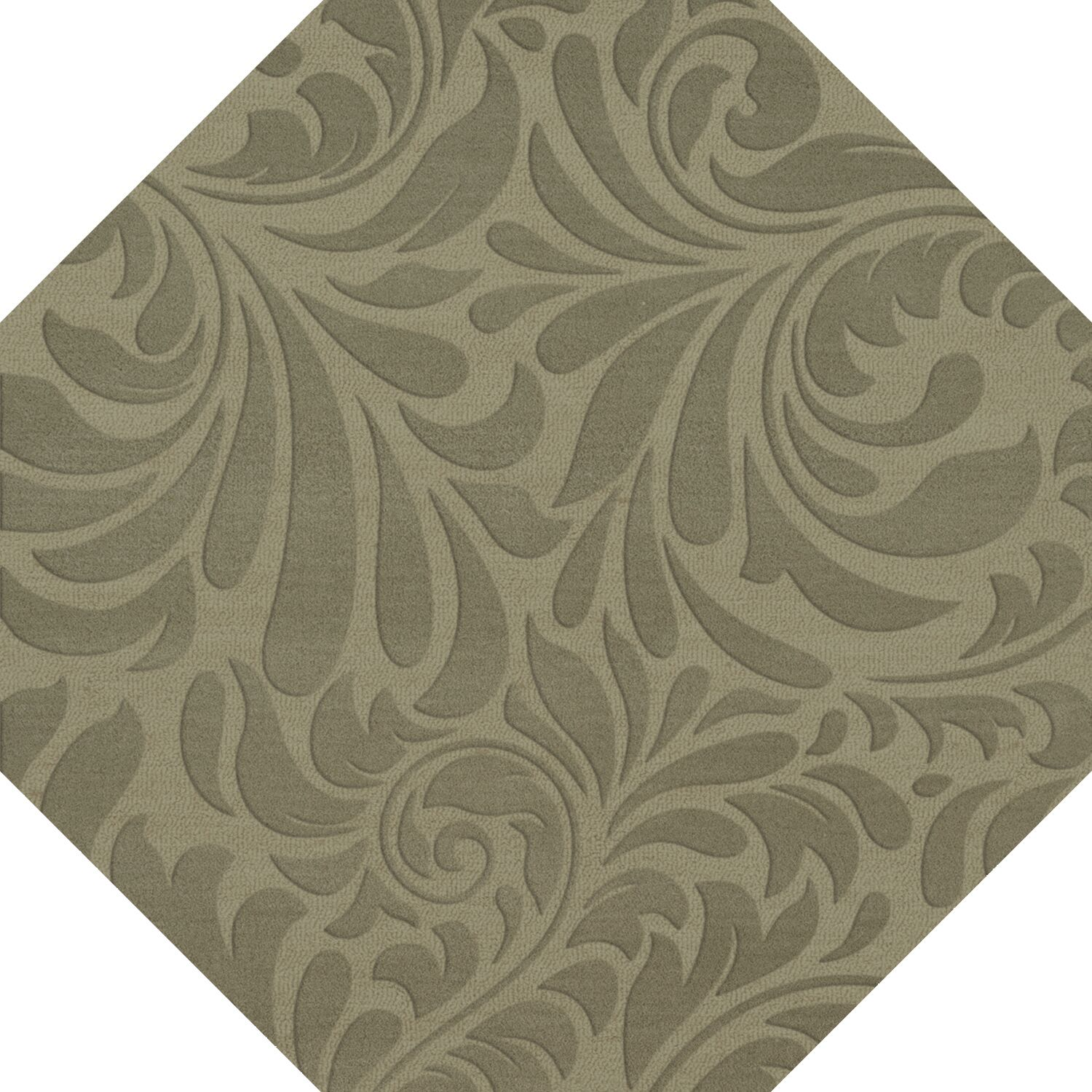 Bella Machine Woven Wool Gray Area Rug Rug Size: Octagon 8'