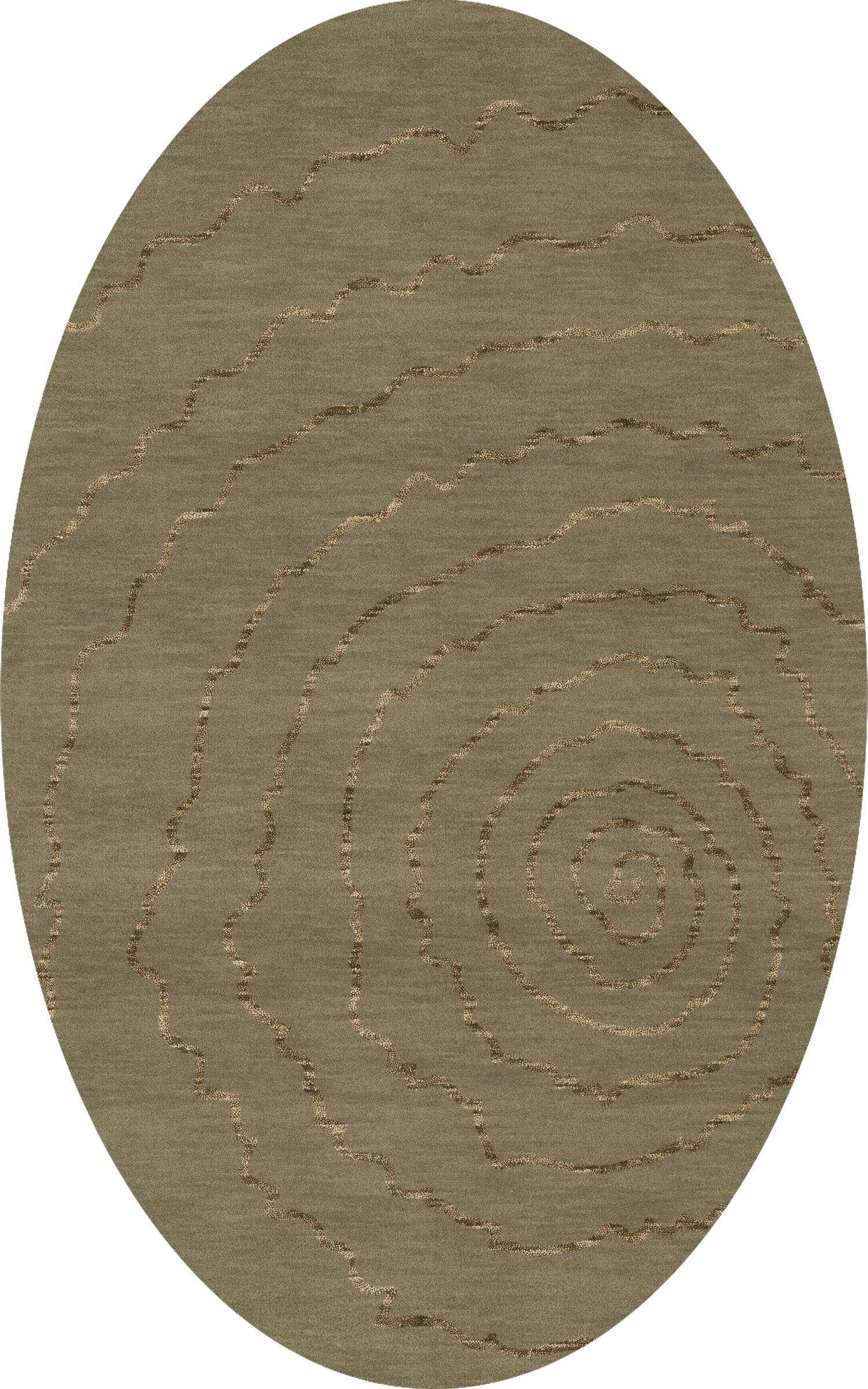 Bella Machine Woven Wool Gray Area Rug Rug Size: Oval 3' x 5'