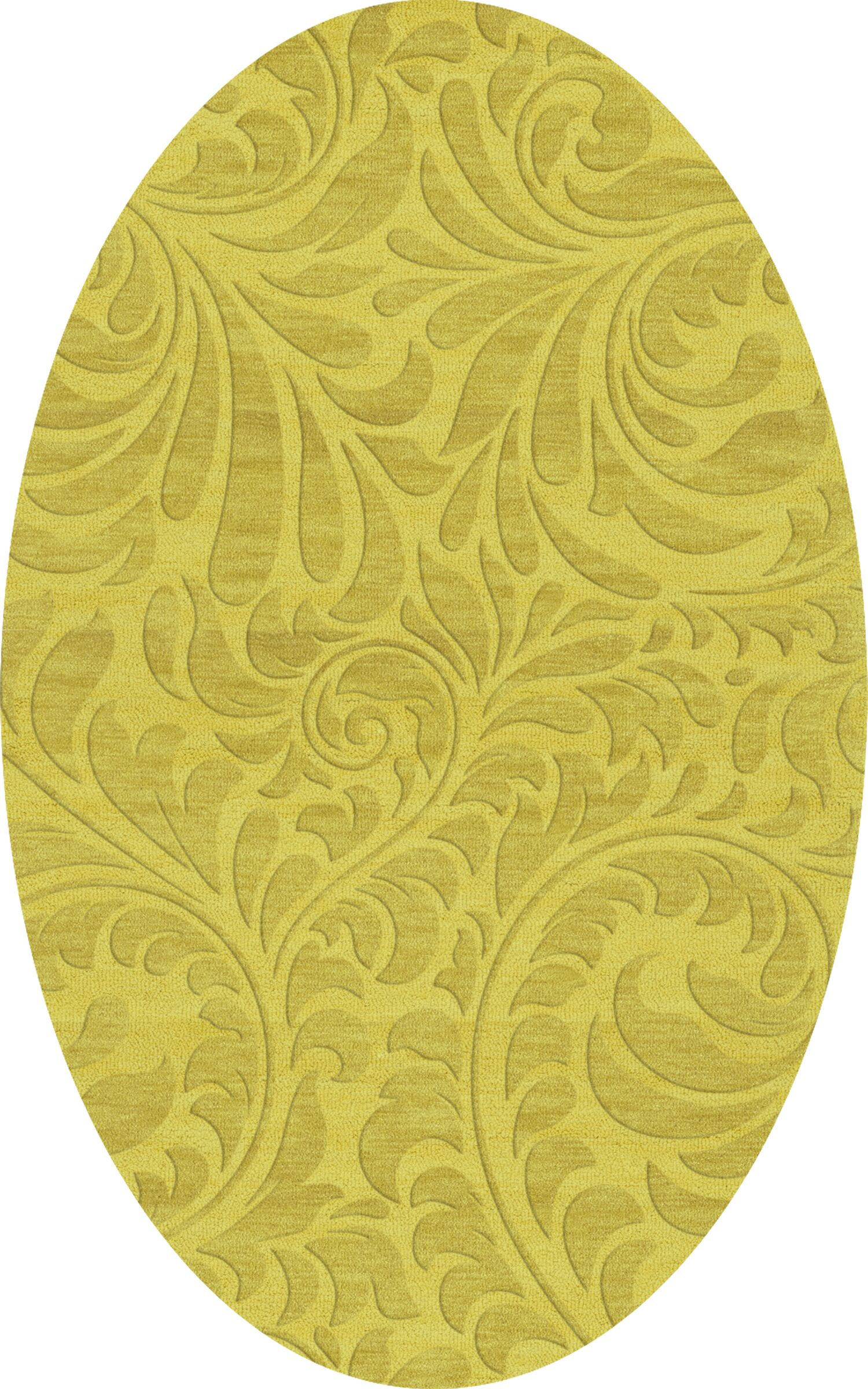 Bella Machine Woven Wool Yellow Area Rug Rug Size: Oval 10' x 14'