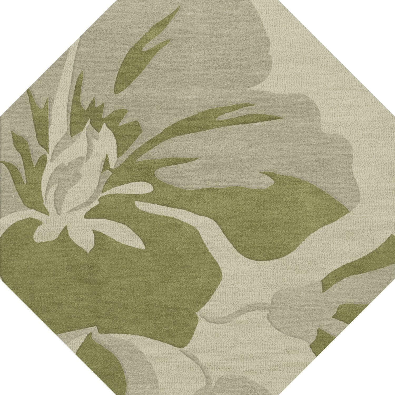Bella Green Area Rug Rug Size: Octagon 4'