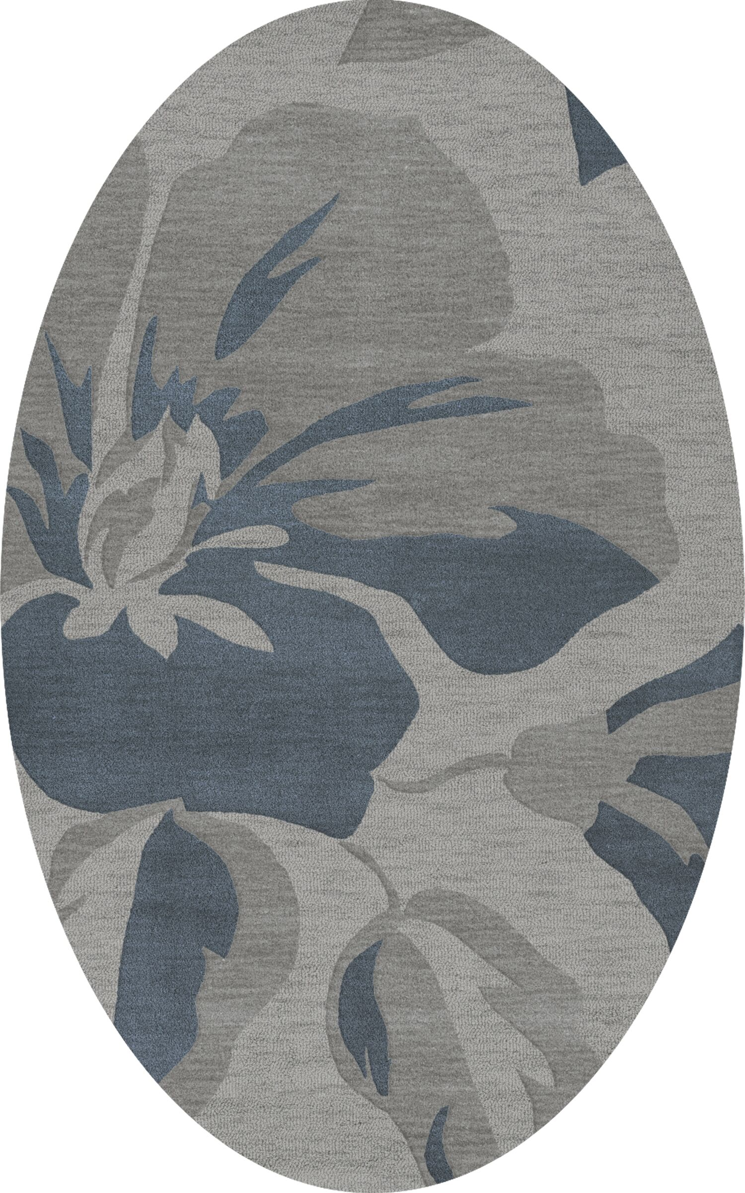 Bella Gray Area Rug Rug Size: Oval 6' x 9'