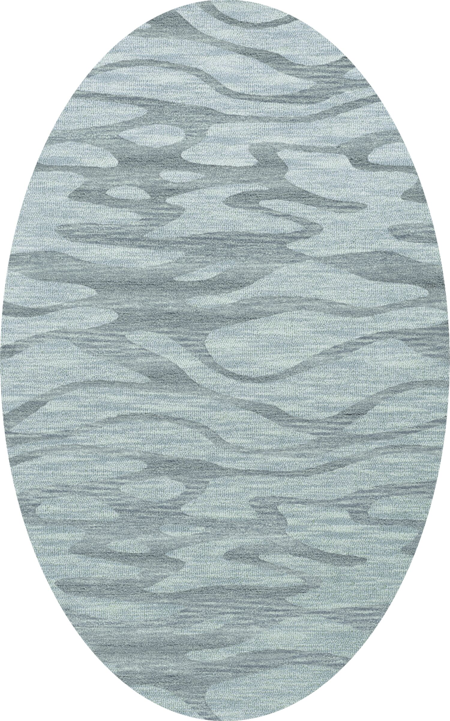 Bella Machine Woven Wool Blue Area Rug Rug Size: Oval 4' x 6'