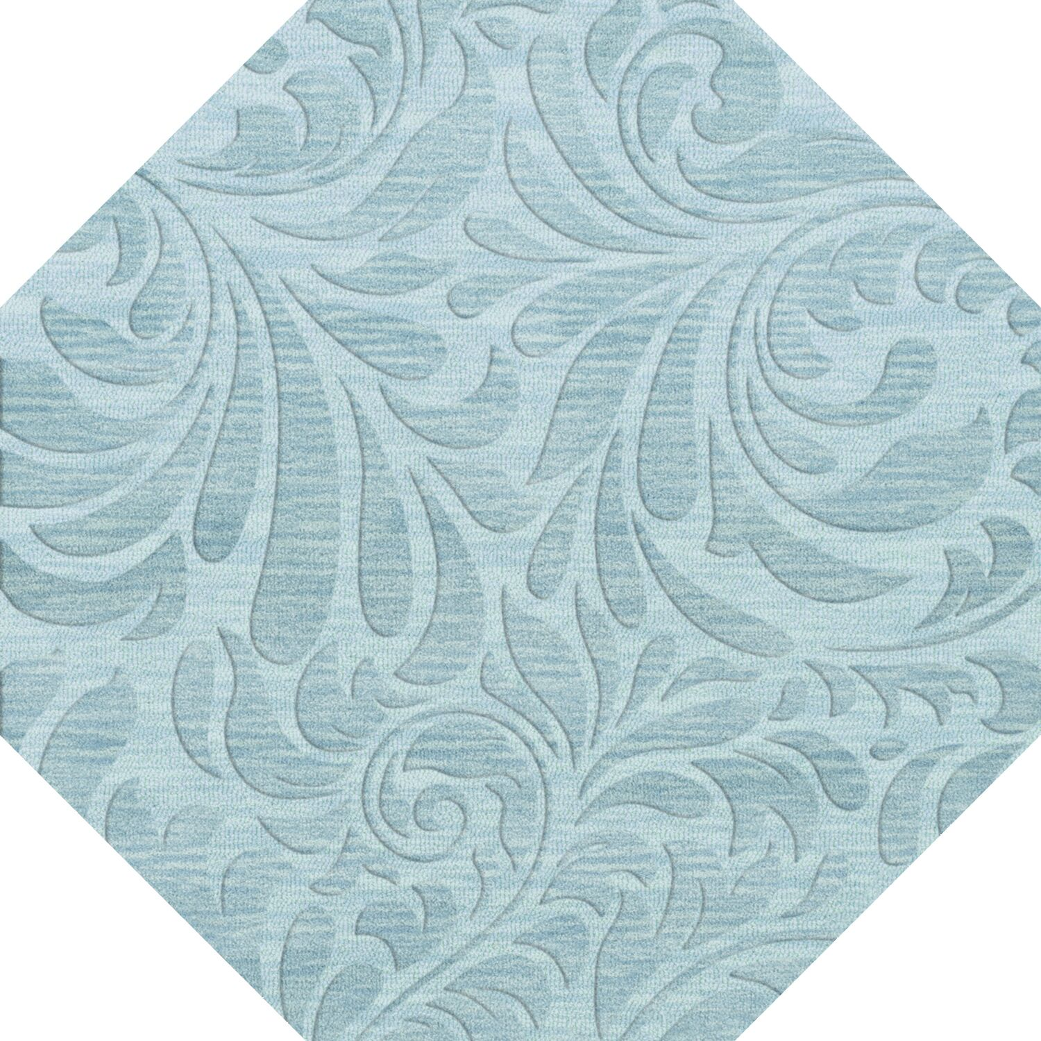 Bella Machine Woven Wool Blue Area Rug Rug Size: Octagon 6'